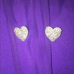 Bedazzled Heart Earrings
